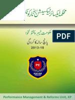 Excise & Texation Department KPK - Performance report 2013-2018