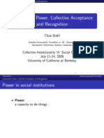 "Presentation ""Institutional Power, Collective Acceptance and Recognition"""