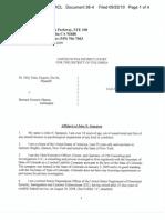 TAITZ v OBAMA (QUO WARRANTO) - 36.4 - # 4 Exhibit Exhibit D Affidavit of deportation officer re. redacted SS application - gov.uscourts.dcd.140567.36.4