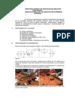 Inforne de Laboratorio Sesion 6 y 7 de Practicas de Circuitos Electricos i