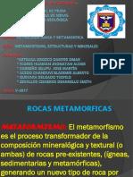 Metamorfismo Estructuras y Minerales