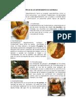 Comidas Típicas de Los Departamentos de Guatemala