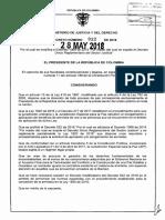 Decreto 932 Del 28 de Mayo de 2018