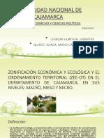 Zonificación Económica y Ecológica y El Ordenamiento Territorial