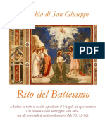 Libretto Rito Battesimo