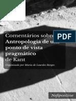 Comentários sobre a Antropologia de um ponto de vista pragmático