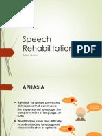 Speech Rehabilitation