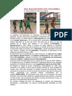Historia Del Baloncesto en Colombia