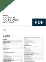 RX-S601 RX-S601D Manual English