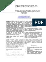Informe de Suelos, Quimica Ambiental