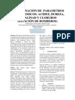Determinacion de parametros fisico - quimicos
