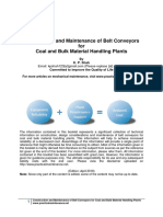 Construction and Maintenance of Belt Conveyors for Coal and Bulk Material Handling Plants