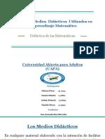 Recursos y Medios Didácticos Utilizados en El Aprendizaje Matemático