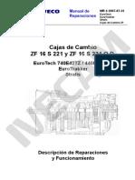 Cajas de Cambio ZF 16 S 221 y ZF 16 S 221 O.D.