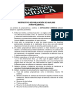 Instructivo de Publicación Análisis de Jurisprudencia