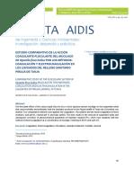 Estudio Comparativo de La Acción Coagulante Floculante Del Mucilago de Opuntia Fic