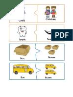 Puzzle de Dos Piezas, Plurals