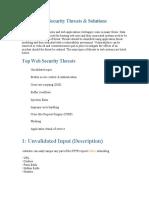 Top 10 Web Security Threats