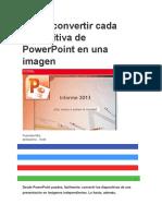 Cómo Convertir Cada Diapositiva de PowerPoint en Una Imagen