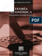 Domínguez Vargas, Sergio - Teoría Económica