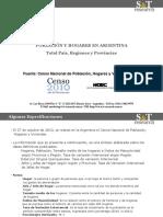 Datos Poblacion INDEC Censo2010