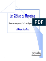 1. Les 22 Lois Du Marketing