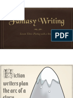 L2&3 FantasyWriting- Key Questions and Plotting with a Story Arc