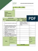 Evaluacion Final Ejercicio Metodologico Cuestion Social