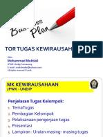 Tor Tugas Kewirausahaan - Mma-2018