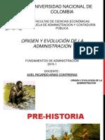 Origen y Evolucion de La Administracion