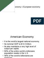 American Economy v European Economy