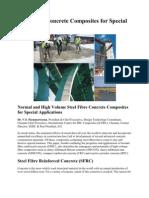 Steel Fibre Concrete Composites for Special Applications