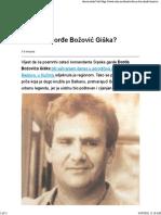 Ko Je Bio Đorđe Božović Giška