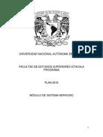 PROGRAMA DE NERVIOSO PLAN DE ESTUDIOS 2016