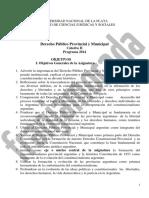 Nuevo Programa Derecho Pãšblico Provincial y Municipal Cat. Ii1