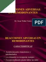 Reacciones Adversas en Hemodonantes