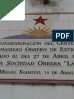 La Luz de Los Obreros- Abril de 1902, Primer Congreso Obrero de Extremadura