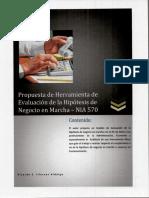 Propuesta de Herramienta de Evaluación de la Hipótesis de Negocio en Marcha – NIA 570