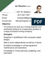 Mining Engineer Resume Example (1)