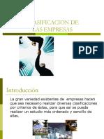 Clasificación de Las Empresas en Chile