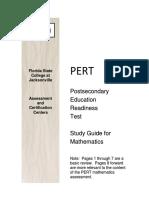 Pert Math Study Guide 1