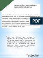 Proyecto de investigación (tesis)