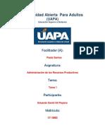 Tarea 1 - Administracion de Los Recursos Productivos - Edwardo