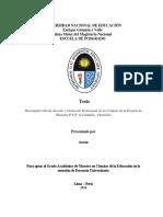 Desempeño Laboral y Formacion Profesional de Los Cadetes