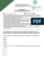 Evaluacion 5basico Modulo1 Matematica