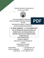 El Medio Ambiente y La Contaminación de Los Residuos Solidos Siendo Un Derecho de Los Pobladores Del Centro Poblado de Pampachacra Huancavelica