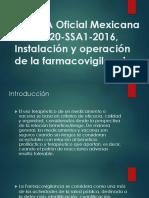 NORMA Oficial Mexicana NOM 220 SSA1 2016