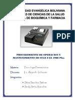 Procedimiento de Stax Fax 1908 Plus