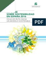 Informe Sobre Sostenibilidad en España 2016 Hoja de Ruta Hacia Un Modelo Sostenible