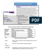 Bizmanualz Business Security Policies and Procedures Sample